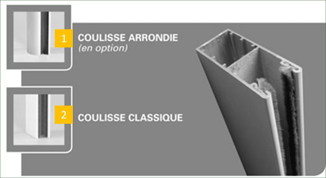 les coulisses de volets roulants au Havre motorisé ou manuel pvc et alu