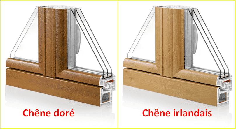 Finition fenêtre pvc plaxée ton bois