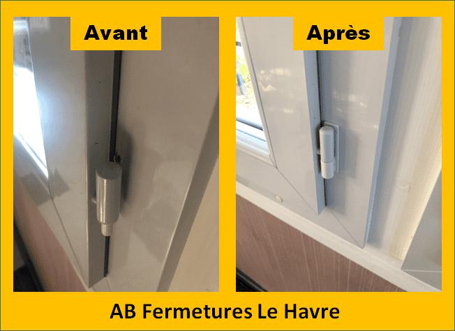 Réparation pvc quincaillerie et garniture de portes et fenêtres au Havre