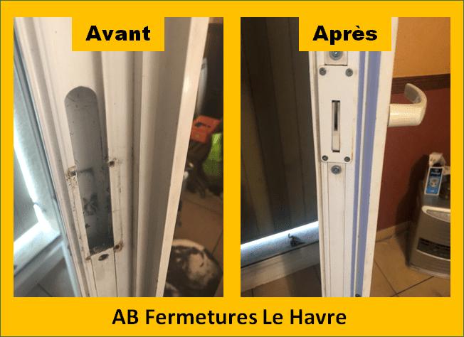 Remplacement de crémone et serrure sur porte et fenêtres au Havre