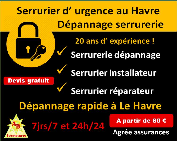 Serrurier d' urgence le havre 76600 serrurerie AB Fermetures Le Havre 76620
