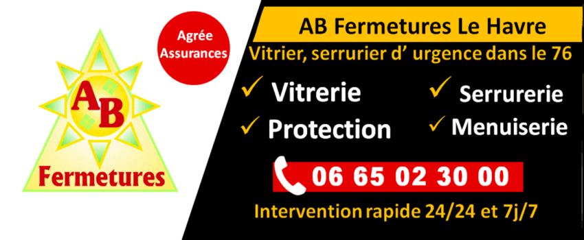 Site web AB Fermetures Le Havre - Vitrier, serrurier au Havre 76600 - 62, rue du Quartier Neuf 76620 Le Havre